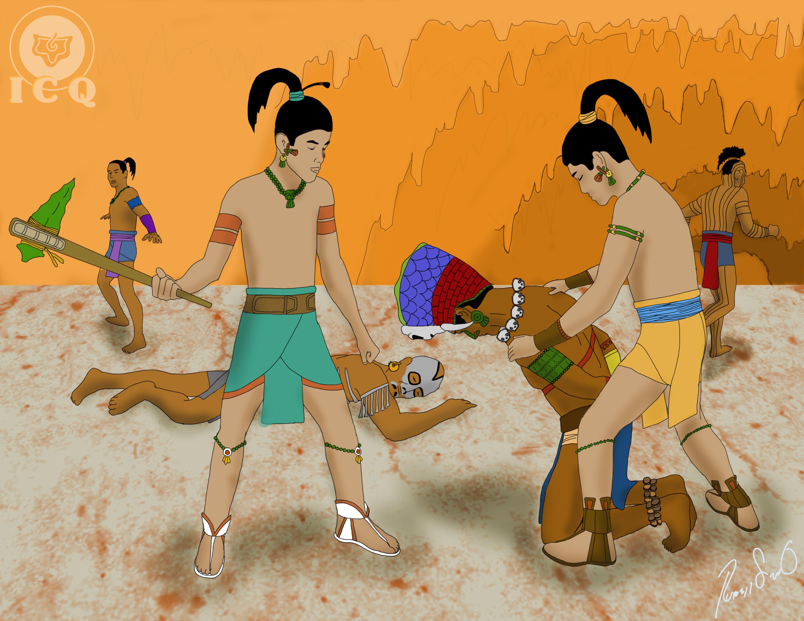 Death of the lords of xibalba the popol vuh