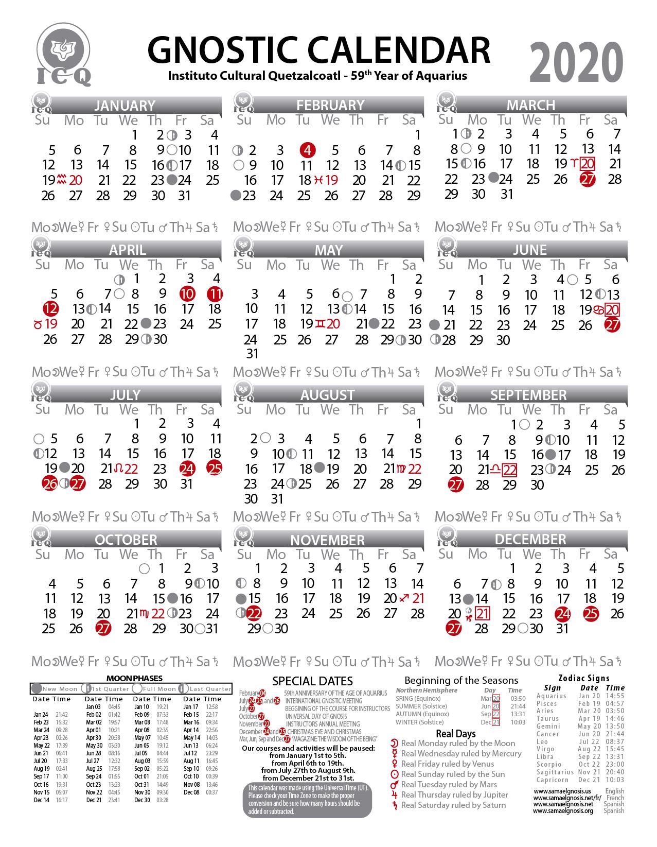 icq s gnostic calendar