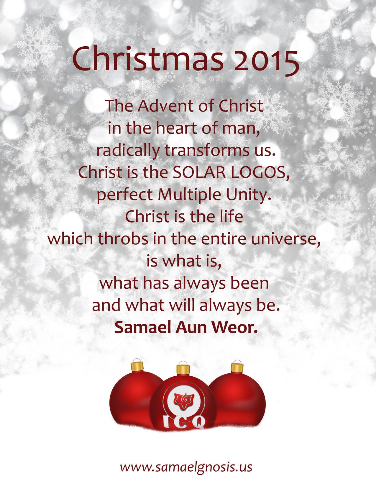 Christmas card samaelgnosis instituto cultural quetzalcoatl 2015 kristyandbryce Gallery