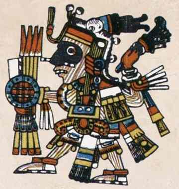 The turquoise god of fire Xiuhtecuhtli Aztec God Of Fire